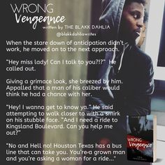 Wrong Vengeance by The Blakk Dahlia. Chapter The Loitering Bachelor Diary Book, Small Talk, Chapter One, Main Character, Talking To You, Book Series, A Good Man, Diaries, Life Lessons