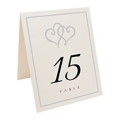 Linked Hearts and Border Table Numbers, Champagne, Silver... https://www.amazon.com/dp/B00UMO5HCK/ref=cm_sw_r_pi_dp_x_B7ZRybEDH6PA6