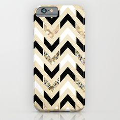 Buy Black, White & Gold Glitter Herringbone Chevron on Nude Cream by Tangerine-Tane as a high quality iPhone & iPod Case. Worldwide shipping available at…