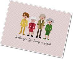 awesome.  Golden Girls cross stitch pattern | Cool Mom Picks