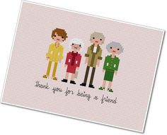 I bought this!  Can't wait to stitch it.  Pixel People  The Golden Girls  PDF by weelittlestitches on Etsy