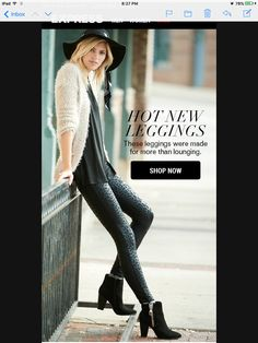 Express.com legging and sweater