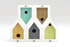 MindTheBird           Esta casa de passarinho foi concebido com a visão de fazer uma casa mais duradouro para as aves. Birdhouses madeir...