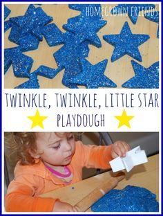 twinkle twinkle little star playdough from Homegrown Friends