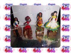 muñecas tipicas de venezuela, modeladas a mano en masa flexible, porcelana fria con estilo MaryVale