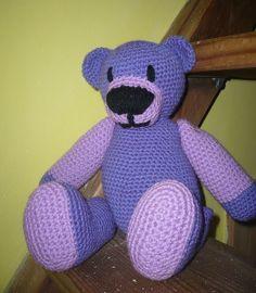 Häkeln Teddy Bär Milka von Crochetland auf DaWanda.com