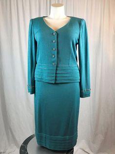 #forsale #STJOHNKnits Evening Powder Blue Suit 3 Piece #deals #shopping #fashion #cute #instashopping #shopaholic https://www.ebay.com/itm/172931957122