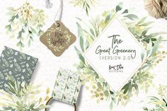 The Great Greenery Version 2.0 by Kim Thoa Designs on @creativemarket