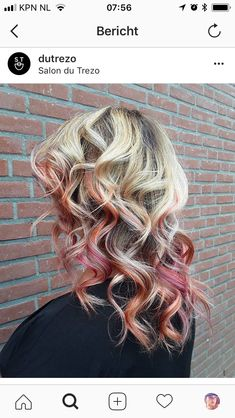 Flaming pink balayage • Salon du Trezo Salons, Dreadlocks, Hair Styles, Pink, Beauty, Lounges, Hair Makeup, Hot Pink, Hairdos