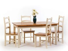 Jamestown Rectangular Dining Set | Cream | Table & 4 Chairs | eBay (£400)
