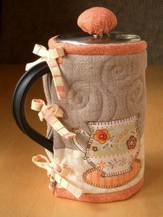 TEACUPS French Press Cozy | by PatchworkPottery