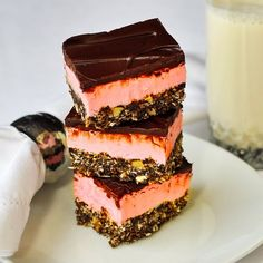 These easy, no-bake Raspberry Nanaimo Bars are a delicious twist on a classic Canadian treat and they are very freezer friendly too; great for the Holidays.