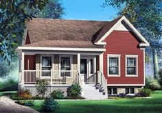 House Plan 49602 | Craftsman Narrow Lot Plan with 911 Sq. Ft., 2 Bedrooms, 1 Bathrooms at family home plans