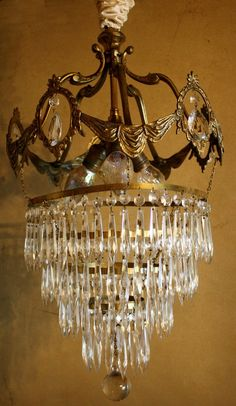 French crystal chandelier for sale http://www.etsy.com/listing/57561327/french-antique-wedding-cake-style?ref=v1_other_2