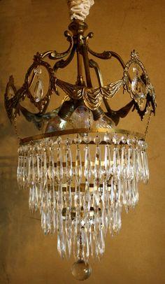 French crystal chandelier tt