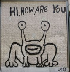 i definitely wouldn't turn down a touristy photo-op in front of a daniel johnston.