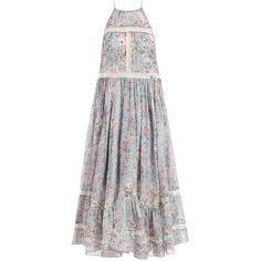 Zimmermann Gemma Folk Floral Sun Dress ($635) ❤ liked on Polyvore featuring dresses, vestidos, maxi dress, skirts, maxi sundress, white sundress, floral dress, white summer dresses and summer maxi dresses
