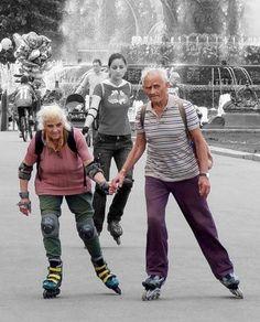 Todavía patinando juntos...