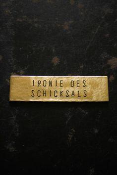 真鍮 表札 看板 ネームプレート - Brass Plate #53 - IRRE