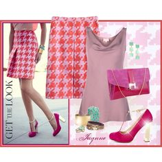 """""""'Houndstooth Skirt'"""" by ladyjaynne on Polyvore"""