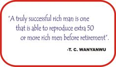 My personal view about a rich man