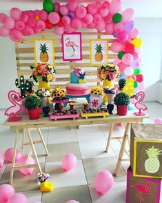 Decoração de aniversário em Caucaia tema Flamingo Flamingo Party, Flamingo Birthday, Dinner Party Decorations, Balloon Decorations, Birthday Decorations, 24th Birthday, Birthday Parties, Aloha Party, Holiday Party Games