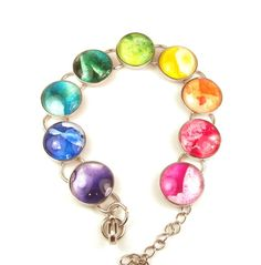 Melted Crayon Bracelet Color Wheel Rainbow Upcycled