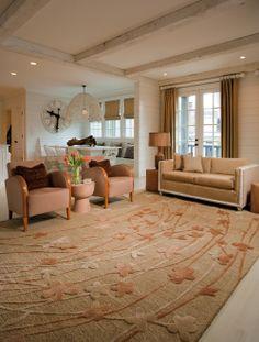 Wildflower area rug in living room.