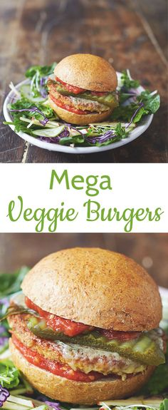 Healthy Mega Veggie Burgers from Jamie Oliver's book, Everyday Super Food