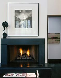 simple, dark surround would balance a tv above it Fireplace Design, Fireplace Mantels, Jewel Box, Living Room Decor, Living Rooms, My Dream Home, Home Appliances, Design Inspiration, Contemporary