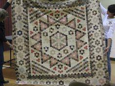 1850 English Hexagon quilt, lecture by Karen Houser, quilt appraiser and historian