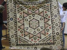 Cactus Needle Quilts: 1850 Mosaic Hexagon Quilt From England
