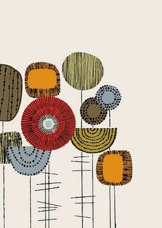 Embroidery Flowers Placement Multi, limited edition giclee print by Eloise… Doodle Art, Textures Patterns, Print Patterns, Flower Patterns, Doodles, Art Graphique, Giclee Print, Pattern Design, Design Design