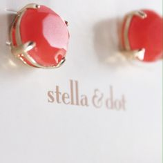 NWT {Stella & Dot} Coral Janice Studs Gorgeous! The description in the photo is one provided on the website, and they also offer this style in green. It is the same pair of earrings, though it might be confusing. Stella & Dot Jewelry Earrings