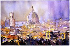 Watercolor painting of Duomo- Florence, Italy   Flickr - Photo Sharing!