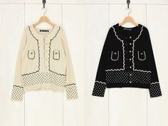 knitted cardigan, franche lippee black