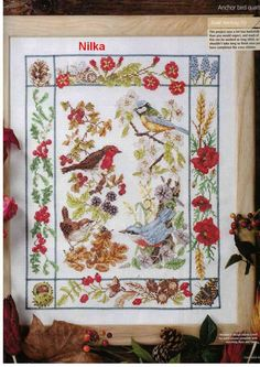 """Seasonal Songs"" by Melanie Patel, from 'Cross Stitch Gold' issue 33"