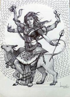 Shiva Art, Krishna Art, Hindu Art, Kali Hindu, Radhe Krishna, Lord Krishna, Shiva Parvati Images, Durga Images, Shiva Shakti