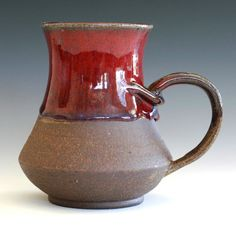 Large ceramic mug love the little arms and the glaze job!!