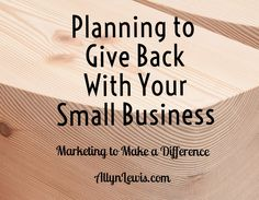 How to make giving back fit into your small business budget!