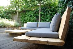 This present-day and beautiful Outdoor Benches will give your garden a jazzy look. Garden Seating, Outdoor Seating, Outdoor Sofa, Outdoor Living, Outdoor Garden Furniture, Outdoor Rooms, Outdoor Gardens, Outdoor Decor, Pergola Patio