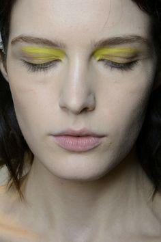 Vionnet Spring 2014. http://votetrends.com/polls/369/share #makeup #beauty #runway #backstage