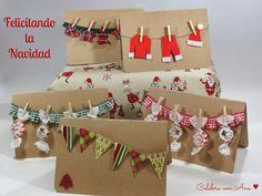 ♥ Tarjetas de Navidad en Kraft