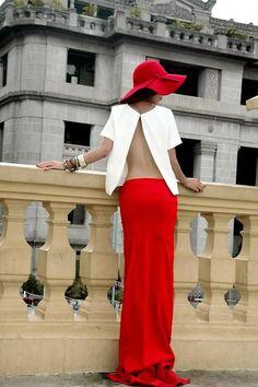 Shop this look on Kaleidoscope (top, skirt, hat, bracelet)  http://kalei.do/WFMbutaC4XCY7FE5