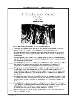 Formative Assessments: Dickens' A Christmas Carol Lesson Plan ...