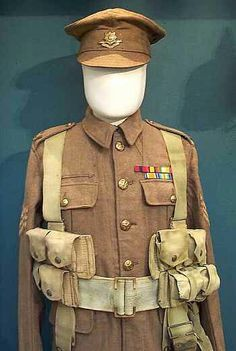 A World War One uniform from the Cheshire Regiment