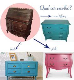 Reforma de cômoda antiga - qual cor escolher - inspirações para reciclagem de móveis antigos