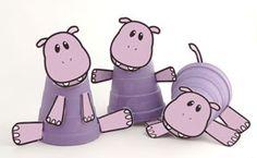 hippopotamus cup Craft for Kids