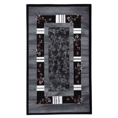 Linon Capri Black/ White Area Rug
