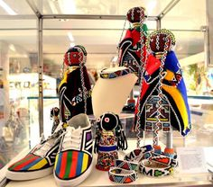 South African items by Esther Mahlangu and Grace Masango at the VMFA shop. African Art For Kids, African Love, African Crafts, African Home Decor, South African Shop, South African Artists, African Print Clothing, African Print Fashion, Shops